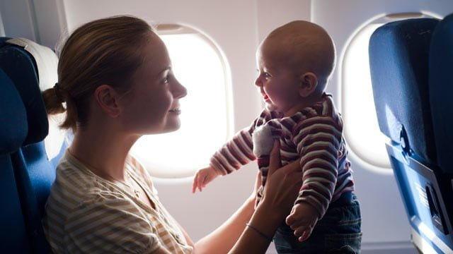 Newborn baby on a long haul flight!