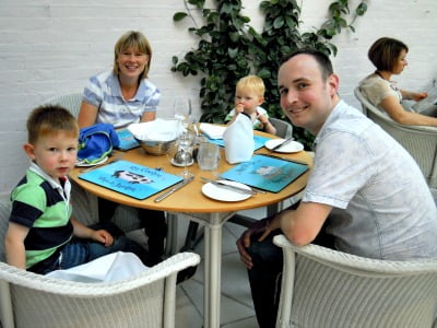 Family meal in the Conservatory at the Ickworth