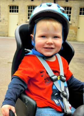 Daniel enjoying his bike ride
