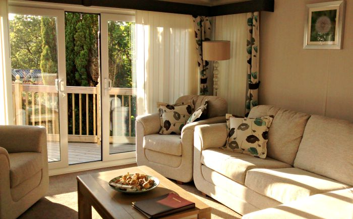 holgates caravan sitting room