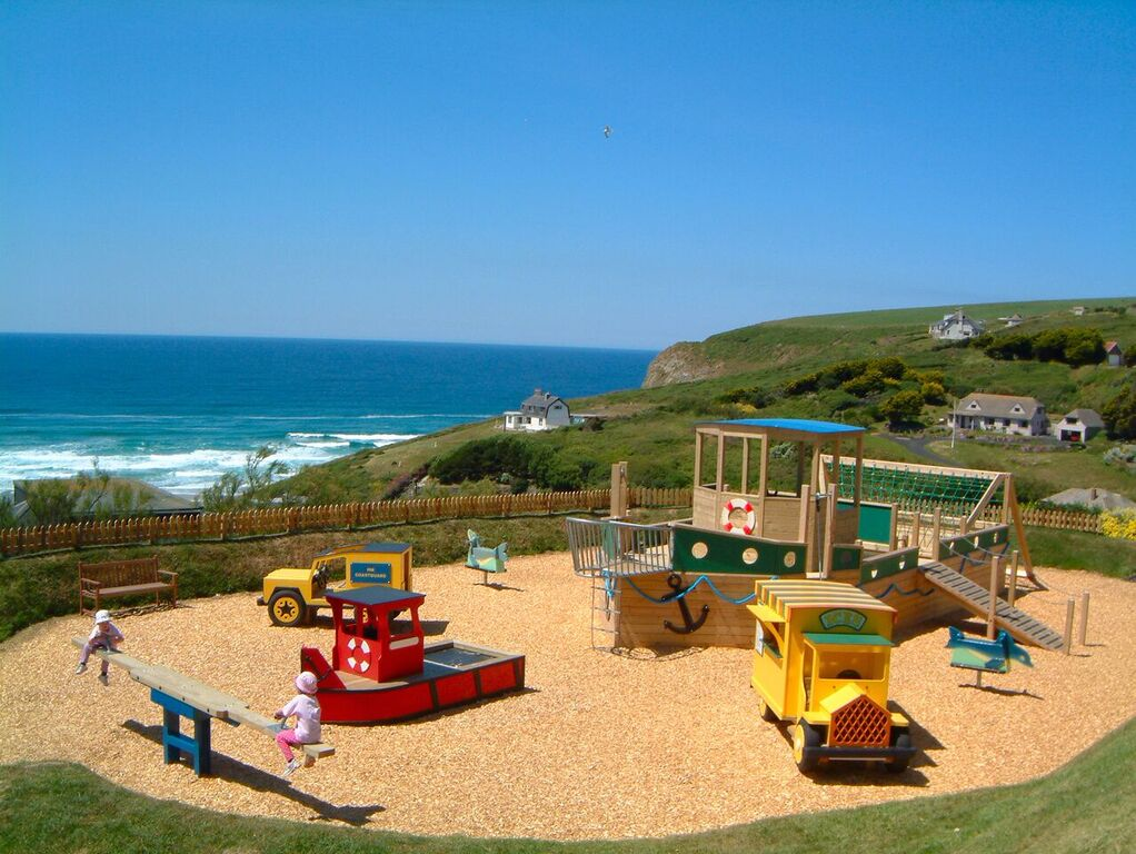 The playground at the Bedruthan Hotel