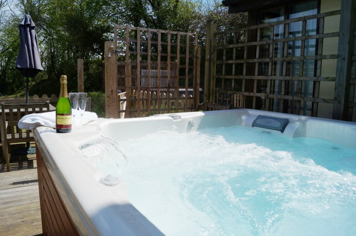 The hot tub at North Hayne Farm