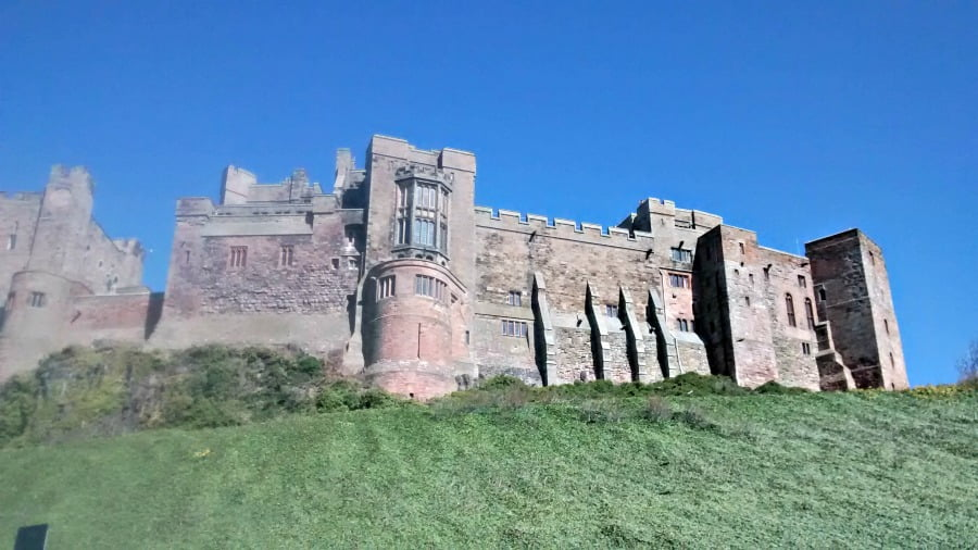 Bambrugh Castle - things to do in Northumberland with a toddler