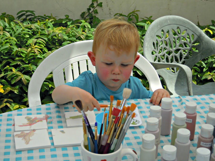 Pottery Painting at Grange Du Moulin