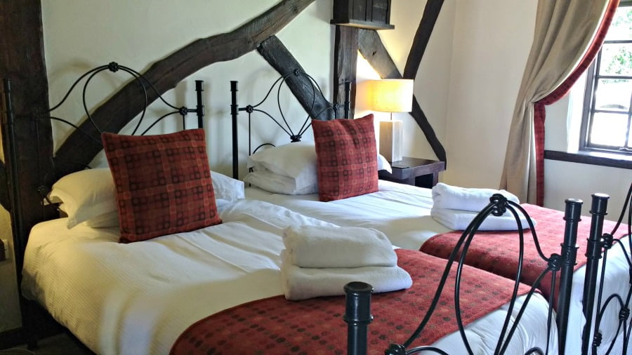 The bedroom at Clydey Cottages in Pembrokeshire