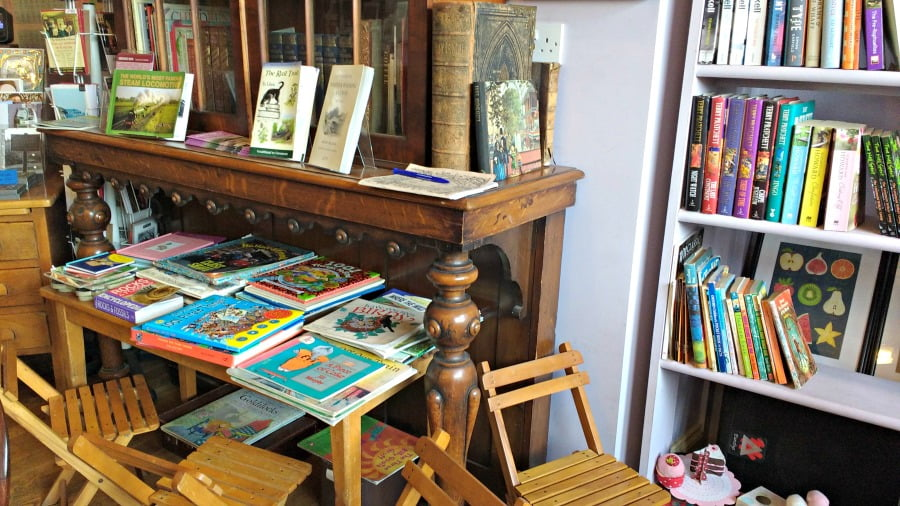 The toys and books at the Old School Coffee Shop in Grosmont