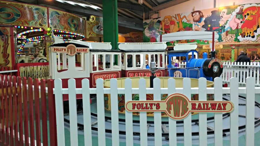 The fun fair at Folly Farm