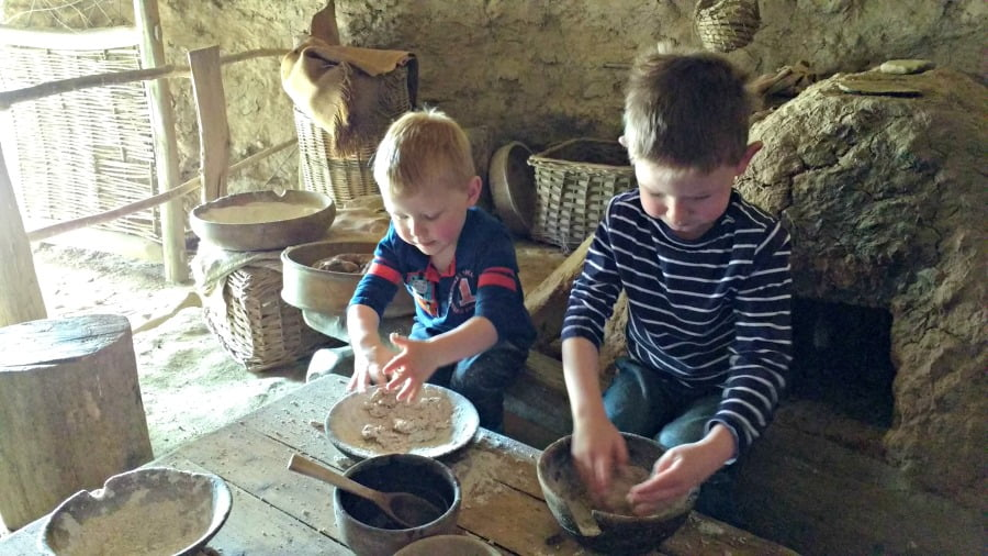 Making bread at Castell Henllys