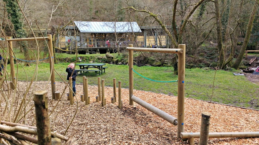 The playground at Castell Henllys