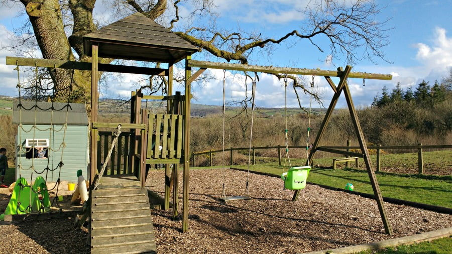 The playground at Clydey Cottages in Pembrokeshire