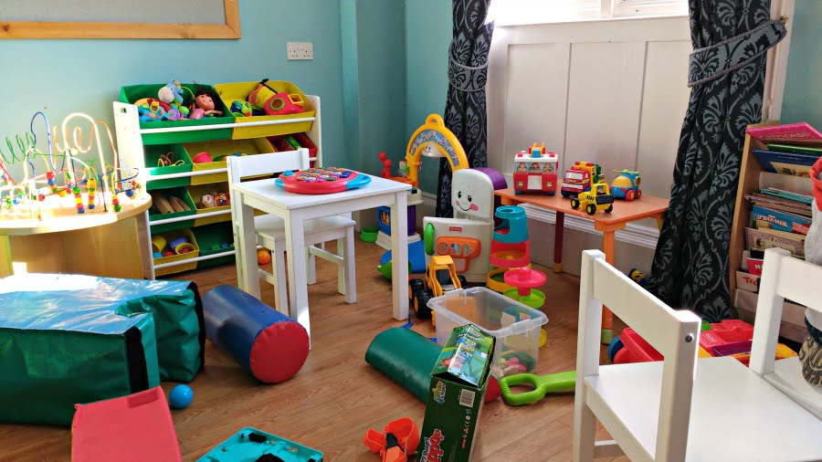 The YHA with a toddler - play in the playroom during your stay