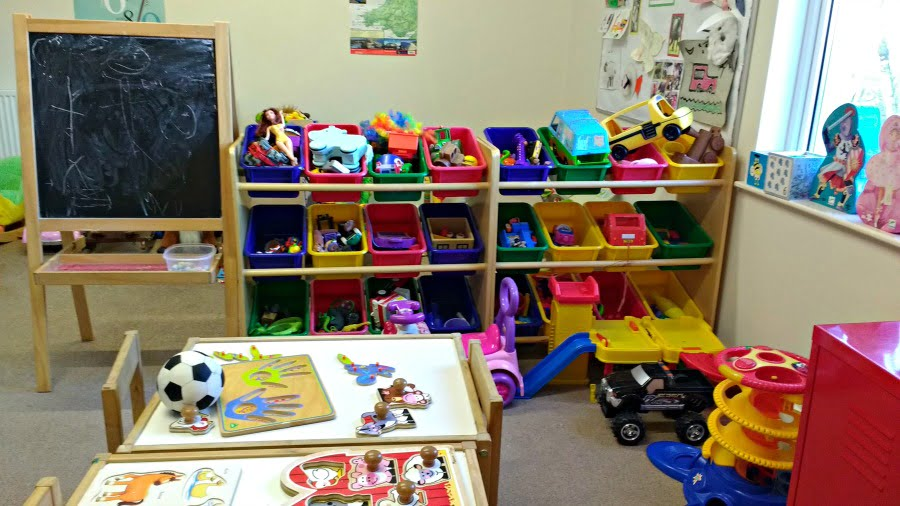 The playroom at Clydey Cottages in Pembrokeshire