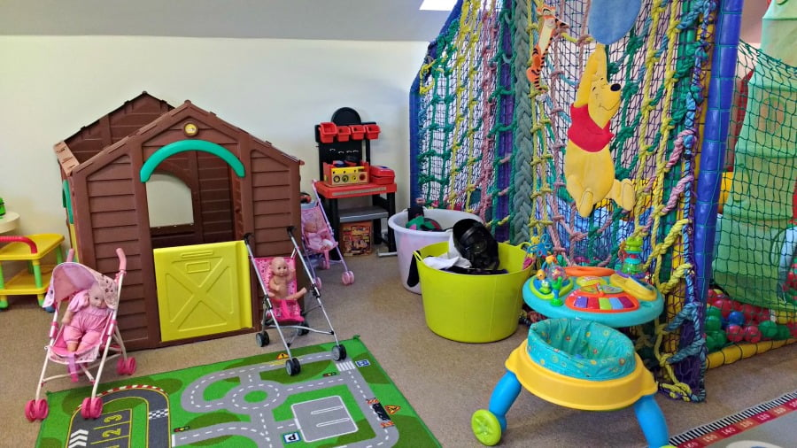 The playroom at Clydey Cottages at Pembrokeshire