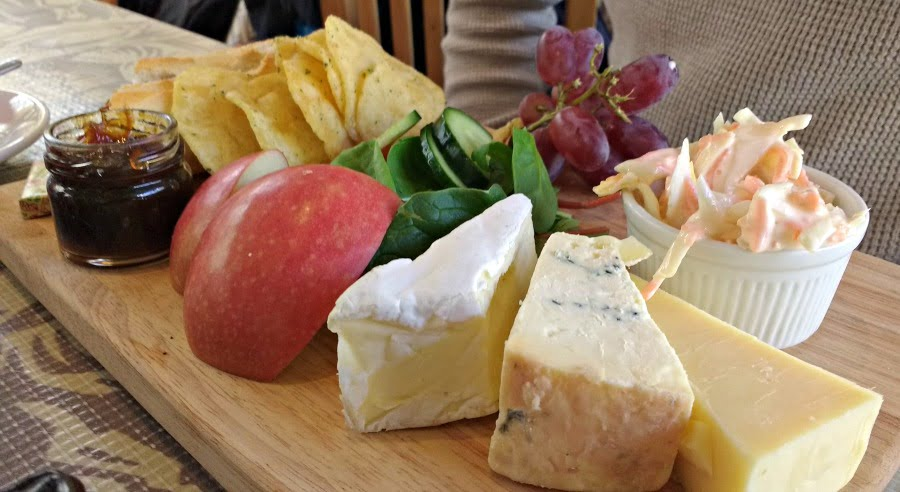 A ploughmans from the Cafe at Castell Henllys