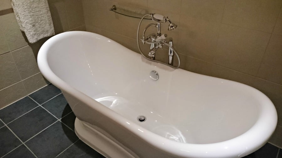 The rolltop bath at Clydey Cottages in Pembrokeshire