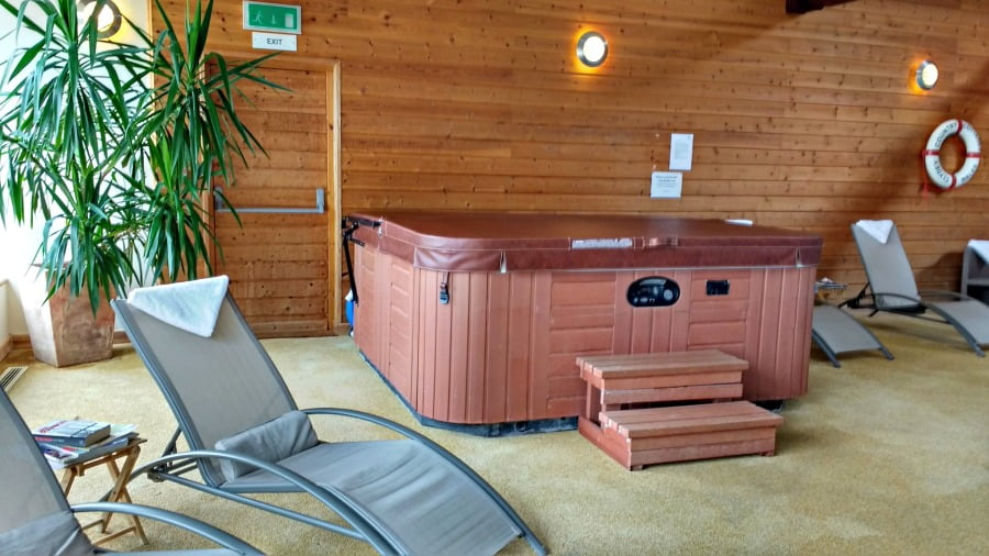 The sunbeds at Clydey Cottages in Pembrokeshire