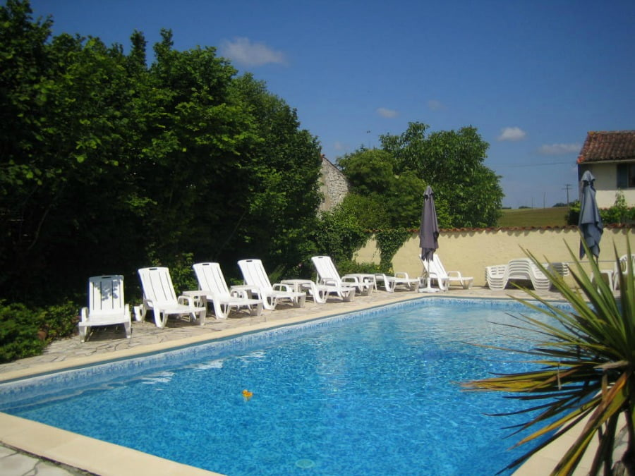 The swimming pool at Grange Du Moulin