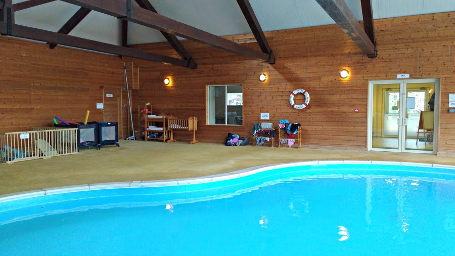 The swimming pool at Clydey Cottages in Pembrokeshire