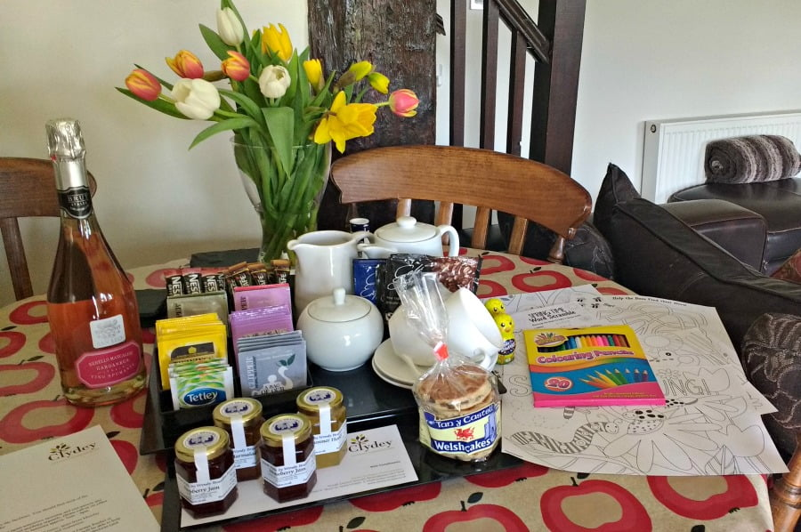 The welcome pack at Clydey Cottages in Pembrokeshire
