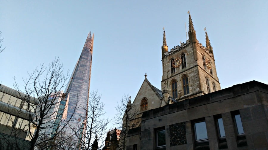 The Shard and Southwark Cathedral