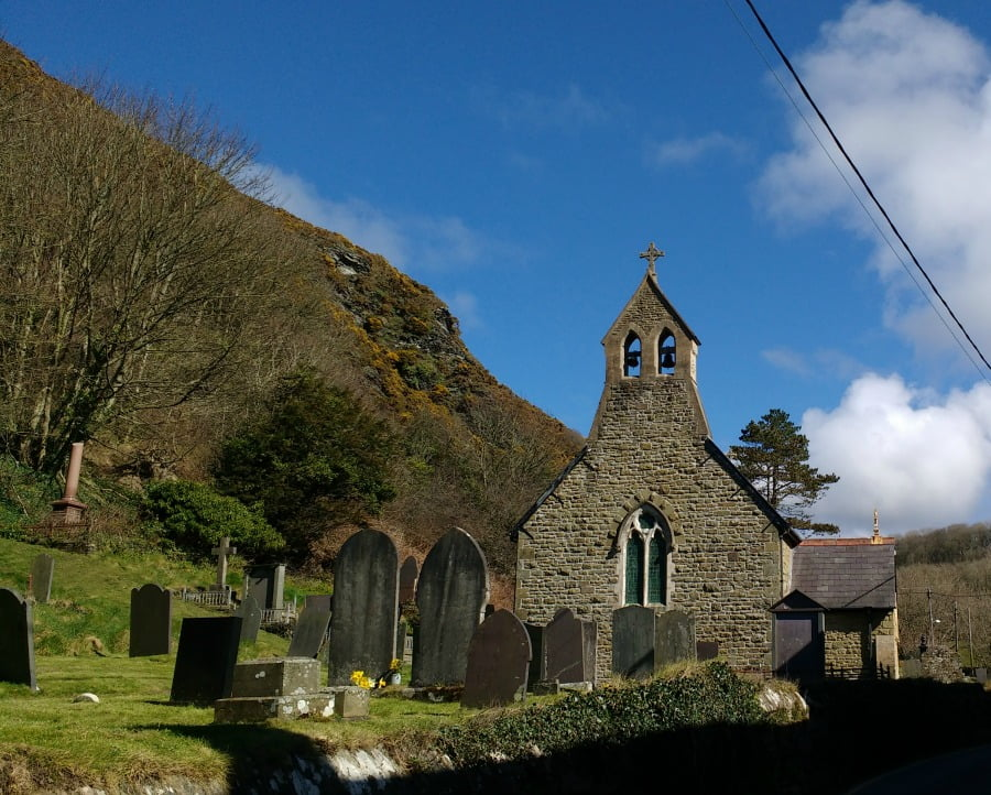 Llangrannog Village in Pembrokeshire