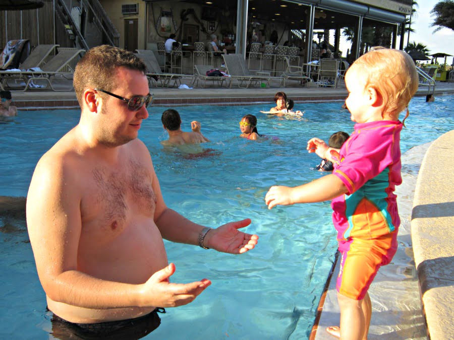swimming on holiday in orlando with a toddler