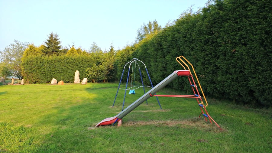 Slide and swing at Upper Greenhills Farm