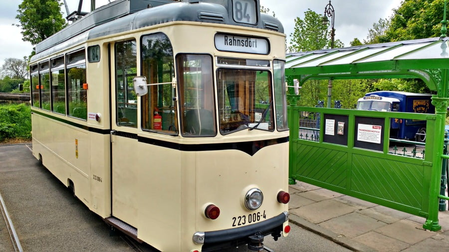 One final picture of a tram at Crich Tramway Village