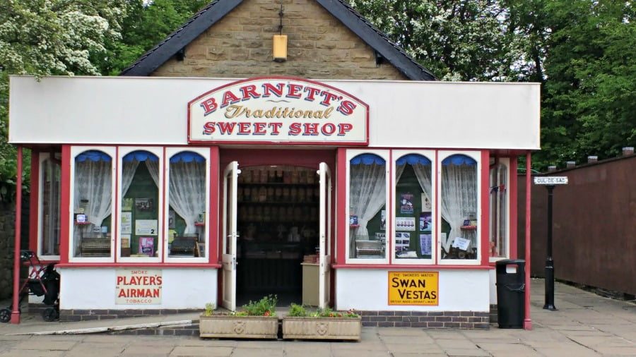 Barnetts Sweet Shop at the Crich Tramway Village