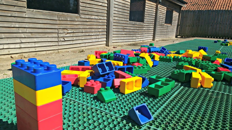 The construction zone at the York Maze