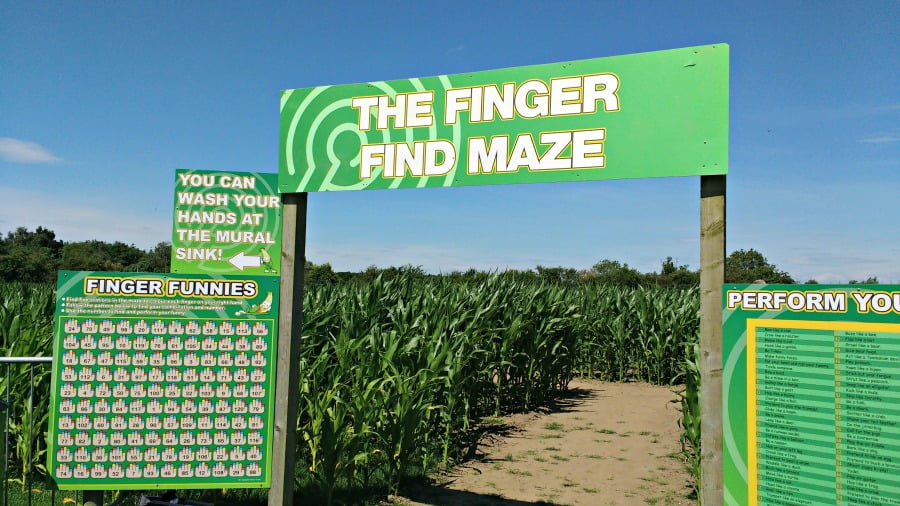 The Finger Find Maze