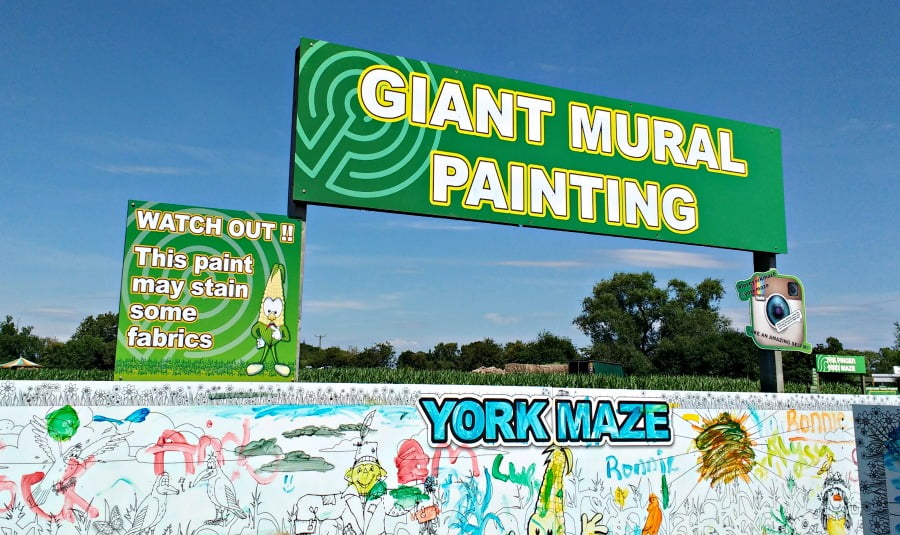 The Giant Mural Painting at the York Maze