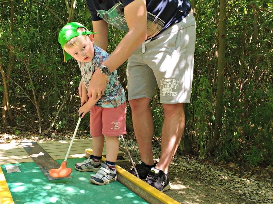 Mini Golf at the York Maze