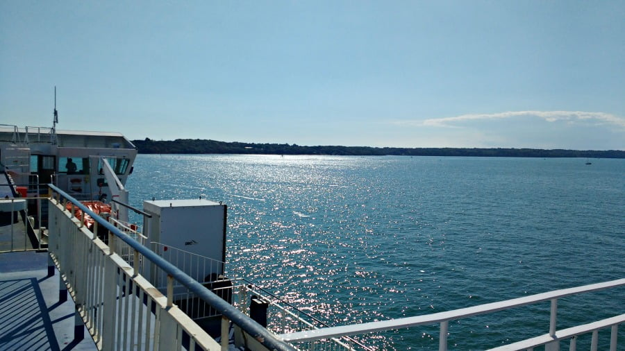 Our first view of the Isle of Wight