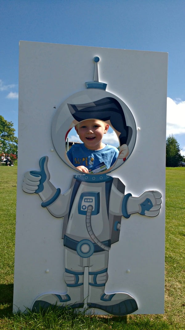 Being a space man!