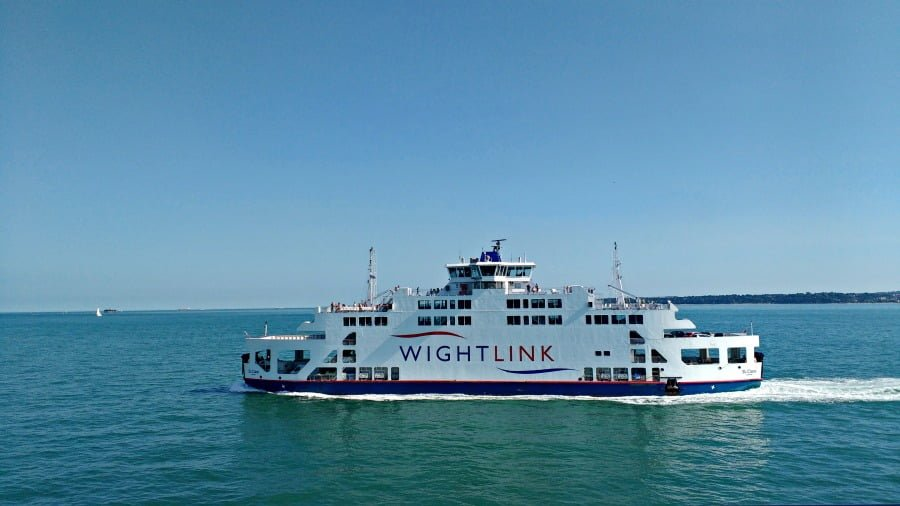 A Wightlink ferry to the Isle of Wight