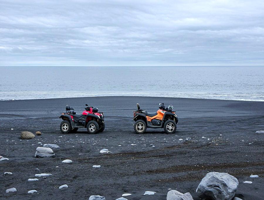 Black sand in Iceland