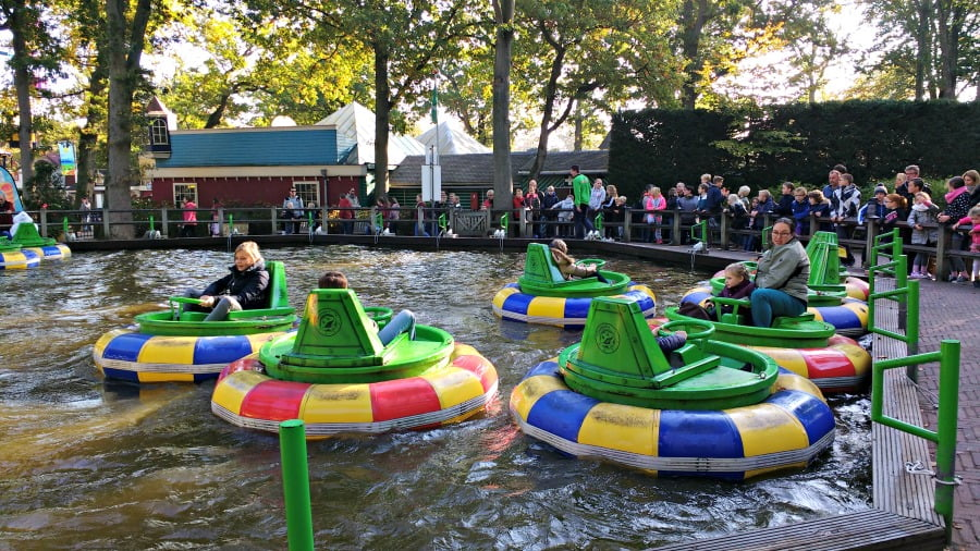 The bumper boats at Duinrell