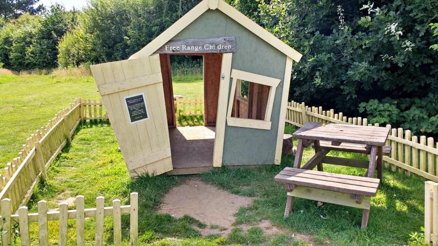The playhouse at the Garlic Farm