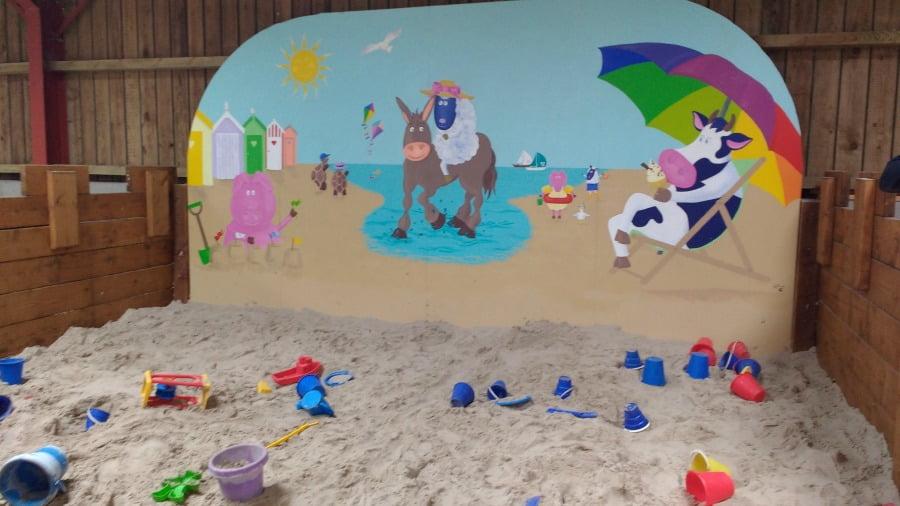 The sandpit at Hesketh Farm Park
