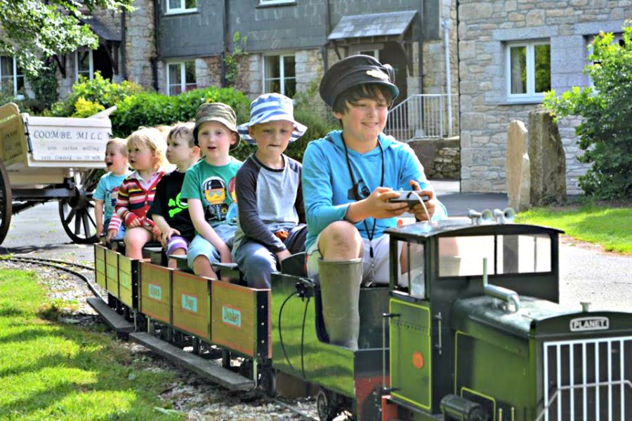 Coombe Mill Railway - toddler farm holidays
