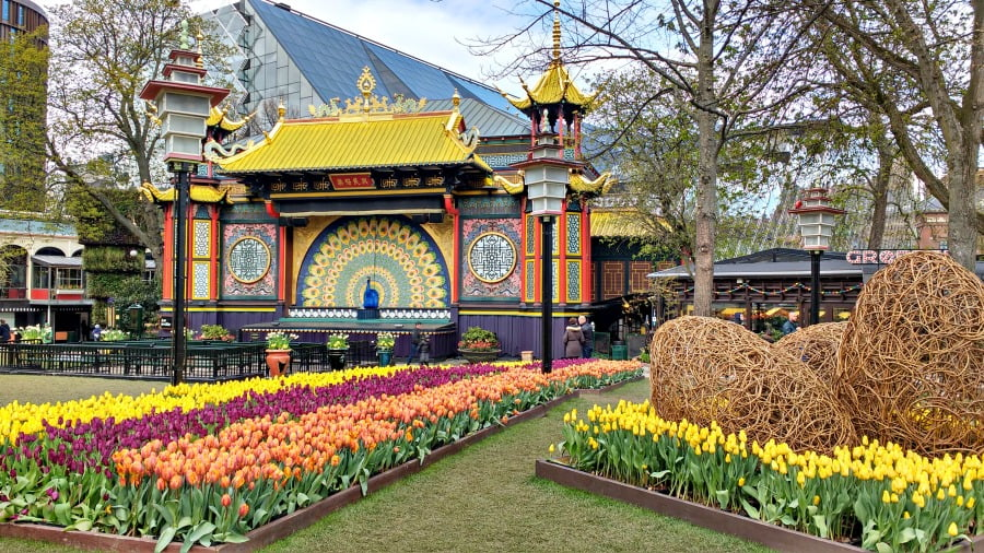 Bulbs at the Tivoli Gardens