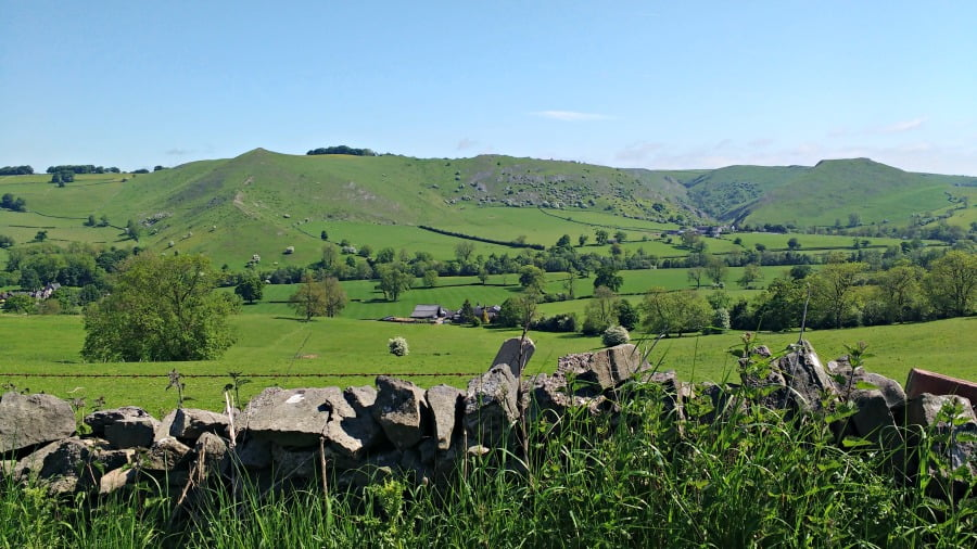 The Peak District hills