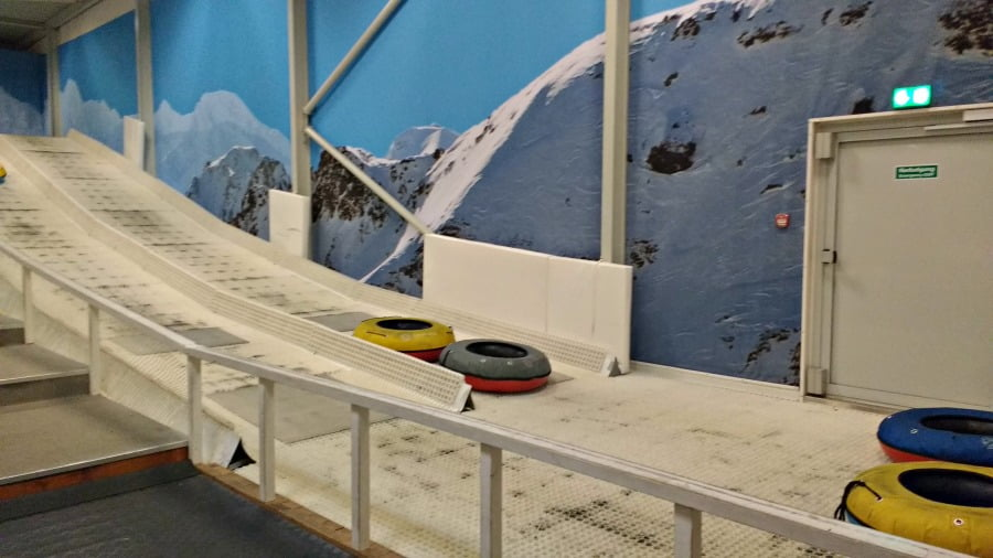 Tobogganing at Winter World Lalandia