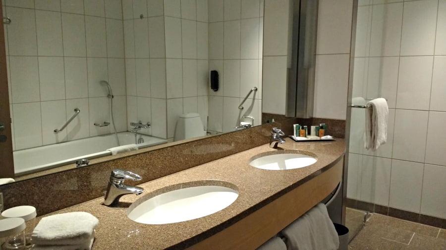Bathroom at the Hotel Clarion at Copenhagen Airport