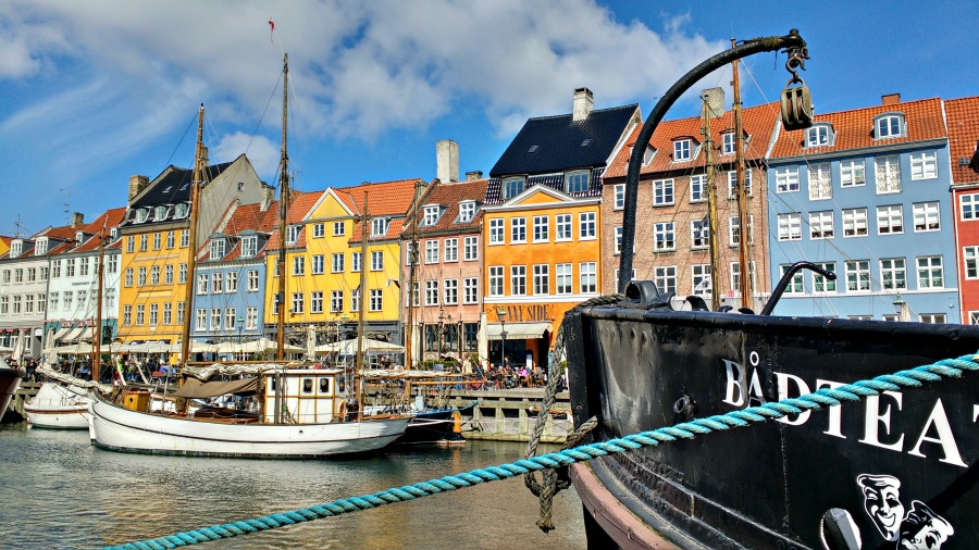 Denmark with families - Nyhavn Harbour