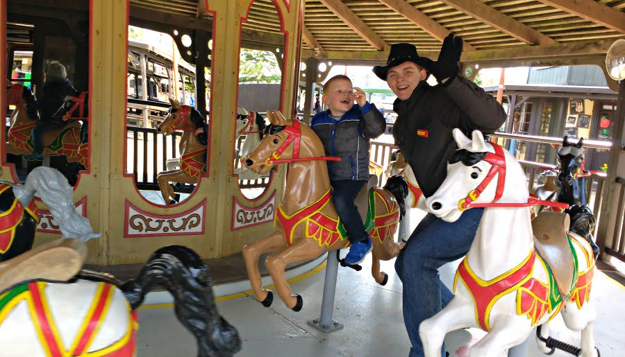 Carousel at Legoredo Town at Legoland Billund