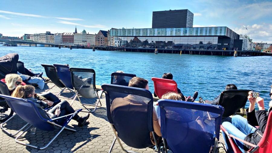 The harbour in Copenhagen