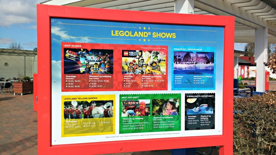 Shows at Legoland Billund in Denmark