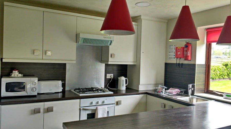 Kitchen area in a Poppy Cottage at Ribby Hall Village